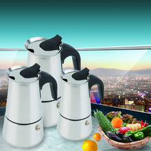 2/4/6-Cup Percolator Stove Top Coffee Maker Moka Espresso Latte Stainless Pot