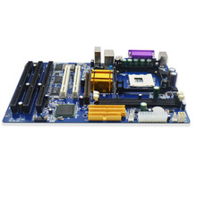 Factory Price LGA478 P4 CPU Desktop Motherboard DDR 3xISA Slot 2xPCI Nic on Lan Win 98 XP Micro-ATX Desktop Motherboard