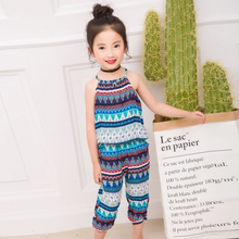 T summer thin new fashion baby sets chldren sleeveless clothing set girls top + Middle pants sets child sets