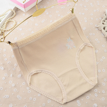 2017 Direct Selling Plus Size 100% Cotton Embroidered Soft Womens Briefs Ladies Plain Boxer Shorts Knickers Underwear M-4xl(China)