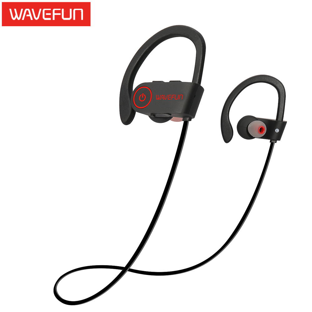 Wavefun bluetooth headphones IPX7 waterproof wireless headphone sports bass bluetooth earphone with mic for phone iPhone xiaomi(China (Mainland))