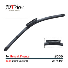 "S550 Wipers Size:24""+16""Fit For Renault Fluence(2009 Onwards )Wiper blade rubber replacement Essuie glace Limpiaparabrisas"