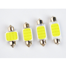 10pcs FESTOON COB 31mm 36mm 39mm 42mm LED Reading light Bulb 12 Chips C5W DC12V White Color Car Dome Light Auto Interior Lamp