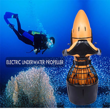 Waterproof 300W Electric Sea Scooter Dual Speed Underwater Propeller Diving Pool Scooter