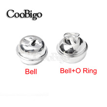 Pick Bells 20mm Silver Christmas Jingle Bell Pendant Charms Dog Cat Collar Craft Bells With O-Ring #FLQ096/FLQ096-R