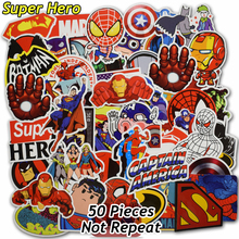 50 Pcs Super Hero Stickers for Kids Laptop Home Decor Vinyl Decal Car Styling Bike Motorcycle Skateboard Toys Waterproof Sticker