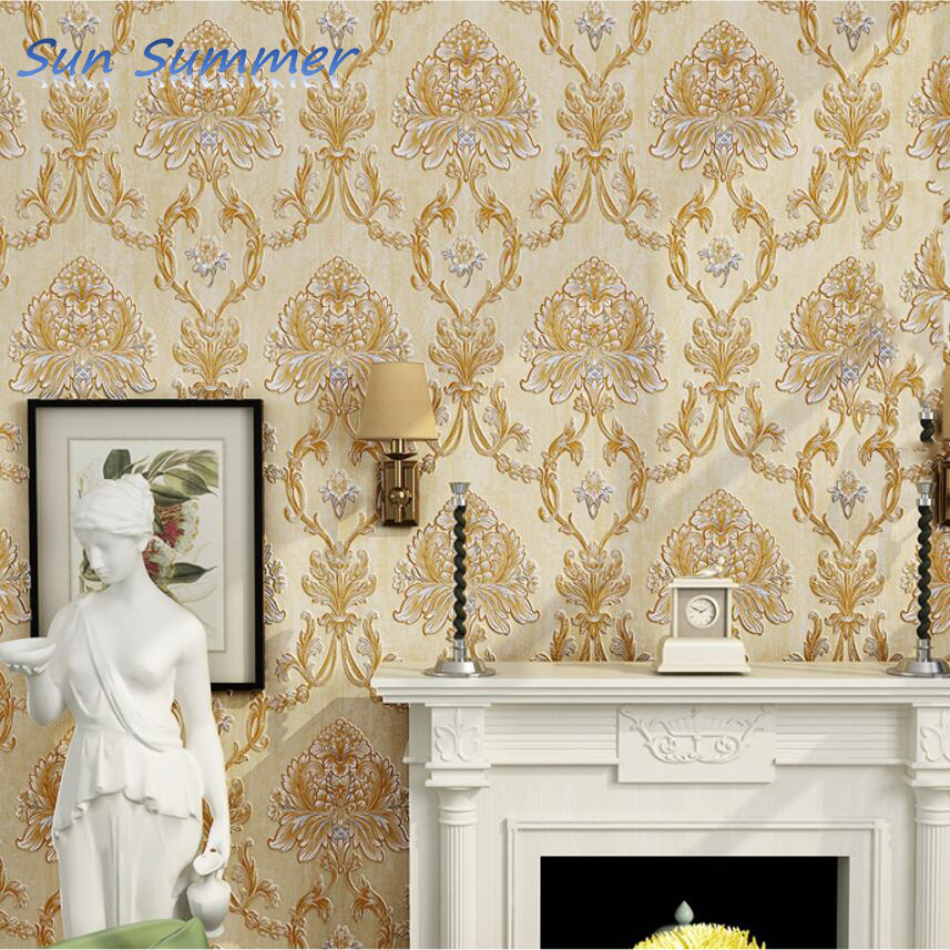 wallpaper 3d three-dimensional relief fashion wallpaper non-woven tv background wall wallpaper <br>