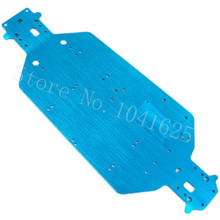 HSP 04001 Aluminum Chassis Metal 6061 For EP RC 1/10 Off Road Buggy Monster Truck 94107 94111 BRONTOSAURUS XSTR Upgrade Parts