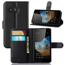 Free Shipping 100pcs/lot Smart Magenetic Card Holder Stand Leather Case Cover for Microsoft Nokia Lumia 550 Phone Case