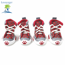 New Classic Casual Canvas Small Dog Shoes Sport Styles Puppy Dog boots Anti-slip chihuahua dog booties Pet footwear(China)
