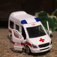 1:64 Alloy car model Police car series 120 ambulance Back to the car Children like the gift Family Decoration Collection
