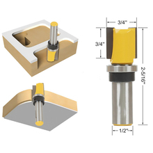 "3/4"" W X 7/16"" H 1/4"" Shank Flush Trim Hinge Mortise Template Router Mills Bit(China)"