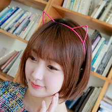 Fashion Women Cute Cat Kitty Kitten Ears Metal Headband Hair Band Cosplay Party Jewelry