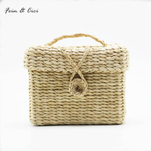 beach bag straw totes bag small summer bags women handbag braided 2017 new arrivals spring high quality