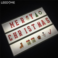 A4 Cinema Lightbox Lamp Special Design For Christmas Lighting Power By AA Battery / USB Cable With Xmas Fairy DIY Sign Led Light(China)