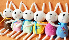 1X Random Color , Kawaii 16CM Metoo Rabbit Plush Stuffed TOY DOLL ; BAG Pendant TOY , Wedding Bouquet TOY DOLL