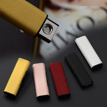 2017 New Frosted Heat Sprial USB Lighter Rechargeable Electronic Metal Cigarette Turbo Lighter Double Side Smoking Accessories(China)