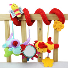 Animal Lovely Bee Plush Toy Super Soft Baby Rattles Toy Multifunctional Bed Crib Hangings Baby Toys(China)