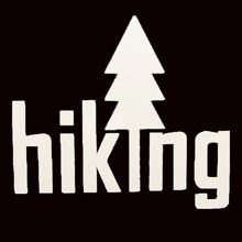Hiking graphic vinyl decal. Bumper sticker. Car window decal. Camping.