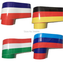 Car Styling 500CM*15CM DIY Decal Wrap Car Body Stickers Russia German Flag Film Accessories For Audi Bmw Volkswagen Polo Golf(China)