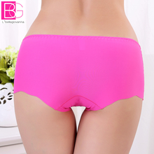 Buy L'bellagiovanna Ice Silk Women Active Boxer Underwear Boyshorts teenage girls one-piece seamless Panties Intimates smallsize8256