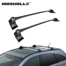 Ironwalls 2x Car Roof Rail Rack Rooftop Cross Bars Crossbars Carrier 150LBS Cargo Luggage Baggage Black For Honda CRV 2007-2011