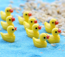 10pcs/set Mini Yellow duck Garden PVC Action Figures Kids Toys For Boys Girls gifts home decorations