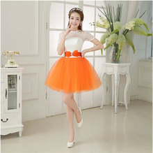 formal short sleeve classy sexy fitted cheap buy orange tulle homecoming dresses ball gown dress for party over under 100 W1769