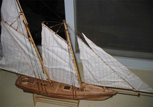 Free shipping Scale 1/120 AMERICA 1851 Yacht race Champion ship model kit Wooden classical retro sailboat