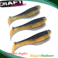Lure 10cm(4pcs) free shipping----sea bass fishing jig head artificial bait (soft pvc plastic)
