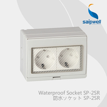 Saipwell Electrical Equipment & Supplies waterproof wall socket IP55 Germany Standard (SP-2SR)(China)