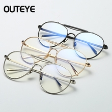 2017 Eyeglasses Retro Round Metal Frame Lens Glasses Spectacles prevent blue light radiation Oculos De Sol Feminino Masculino