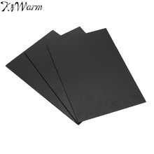 KiWarm 1PC Black ABS Styrene Plastic Plate Flat Sheet for Industry Parts Electronic DIY Craft Supplies 3mm x 200mm x 300mm