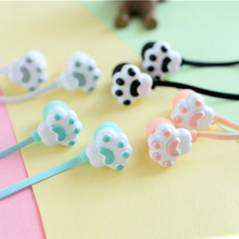 Cartoon Cute Cat Claw Earphone 3.5mm mobile phone headphones with Microphone for iPhone Samsung Xiaomi MP3 Child Christmas gift