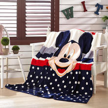 Free shipping!Mickey Minnie mouse Kitty cartoon bedspread sheets blanket Super Soft Flannel Blanket to on for the sofa/Bed/Car