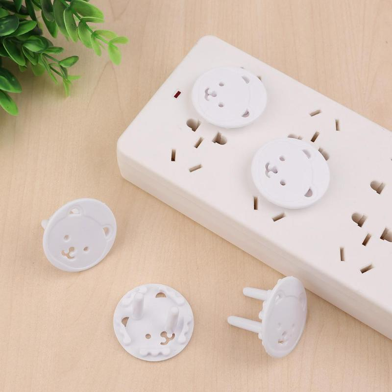 10/20pcs Baby Electrical Safety Outlet Plug Cover Bear Thickened Round Head Child Baby Proof Electric Shock Guard Cap