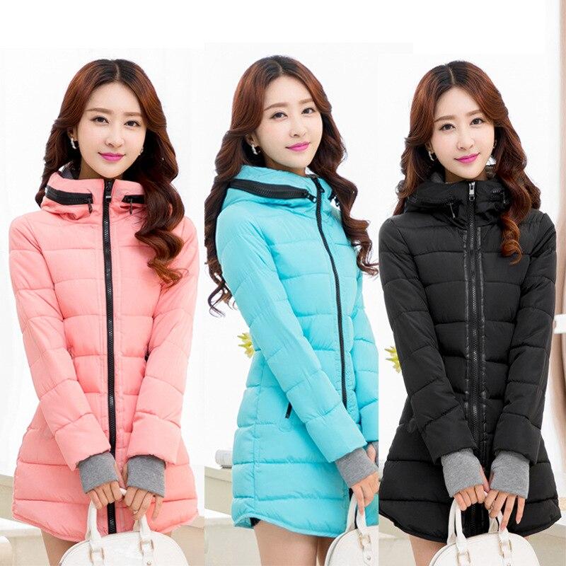 Autumn Winter Jacket Women Cotton Jacket Plus Size Winter Coat Women Thicken Warm Parka Female Patchwork Hooded Overcoat M-6XLÎäåæäà è àêñåññóàðû<br><br>