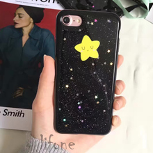 Kerzzil Bling Glitter Shining Stars Sky Phone Case For iPhone 7 6 6S Plus Cartoon Soft Silicone  Cover Back Capa lina