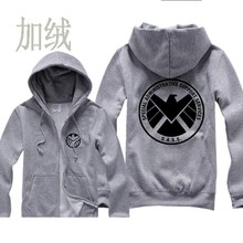 Carter Agents LOGO of S.H.I.E.L.D. S.A.S.S. SPECIAL ADMINISTRATIVE SUPPORT SERVICES Casual woman cotton full zip Hoodies(China)