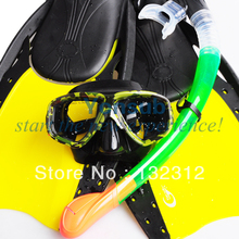 Scuba Diving Equipment Diving Mask +Fins Dry Snorkel Set Scuba Snorkeling