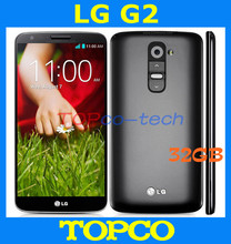 "LG G2 D802 32GB Original Unlocked GSM 3G&4G Android Quad-core RAM 2GB 5.2"" 13MP WIFI GPS Mobile Phone dropshipping(China)"