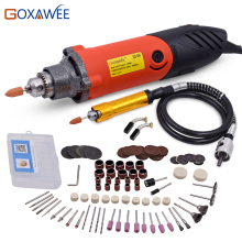 GOXAWEE 110V Big Power Electric Mini Drill Rotary Tools 140pcs With 6 Different Speeds For Dremel Accessories Power Mini Grinder(China)