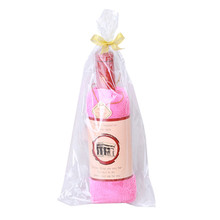 Creative Wine Bottle Shape Towel Gift Present Soft Cotton Face Towel Gift Home Textile Wedding Gift 76*32cm IC878452(China)