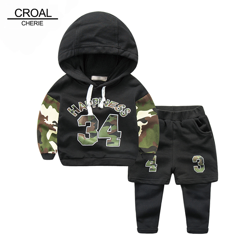 80-130cm Spring Camouflage Sweatershirt + Pants Children Kids Clothing Set Toddler Boy Kids Clothes Cool Sport Suits Hoodies<br><br>Aliexpress