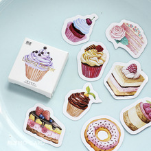 45 pcs/pack Kawaii Cake paper sticker decoration party DIY ablum diary scrapbooking label sticker kawaii stationery(China)