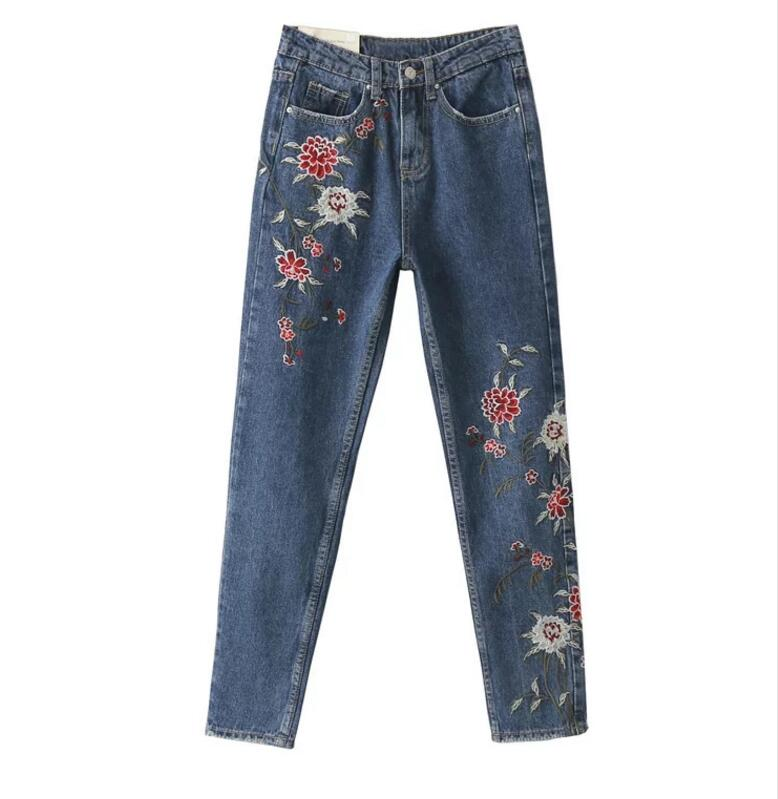 Autumn and winter new retro embroidery to do the old little feet jeans embroideryОдежда и ак�е��уары<br><br><br>Aliexpress