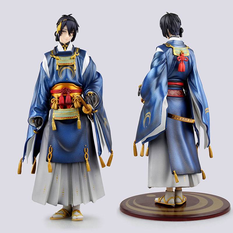 Japan Anime Figurine Touken Ranbu Online Mikazuki Munechika PVC Doll PVC Action Figure Model Toy 23cm 9.1<br><br>Aliexpress