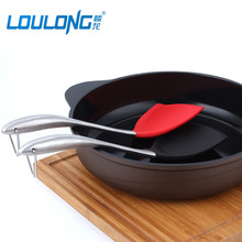 2017 New Cookware Set 2 Pcs Stainless Steel Handdle Spatula Non-Stick Silicone Shovel For Kitchen Cooking CK0004(China)
