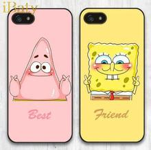2015 Hot Sale Luxury Best Friend SpongeBob And Patrick Cartoon Cell Phone Case For Apple iPhone 4 4S 4G BFF Mobile Cover