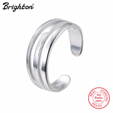 Brighton Unique Design Punk Cool Statement Sterling Silver Ring Wide Hollow High Polish Smooth Open Rings